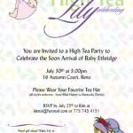 Printed Babyshower Invitation