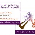Mind, Body and Pilates Business Card
