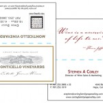 Monticello Vineyards Business Card