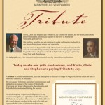 Image of Monticello Vineyards Tribute Flyer