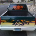 Pickup Truck Window Image