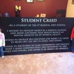 L7 Martial Arts Student Creed Sign